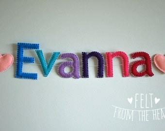 Personalized Name Banner Nursery Felt Custom Garland