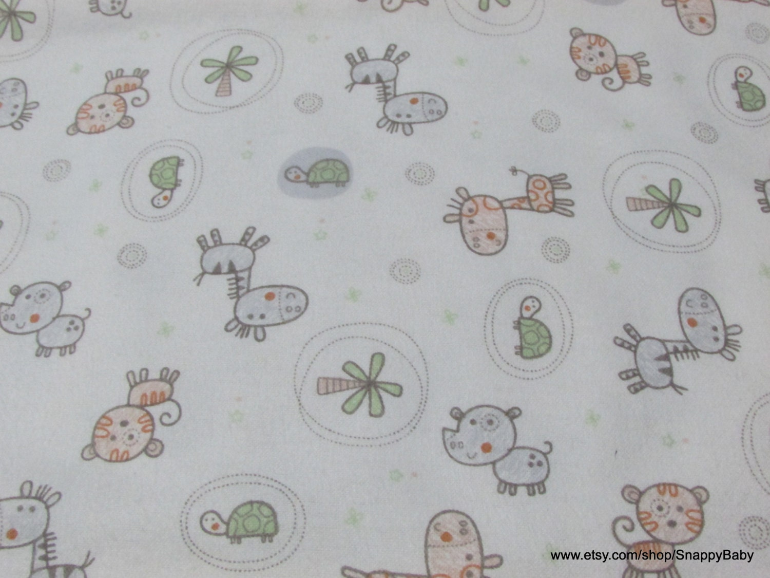 Flannel fabric baby 39 s jungle 1 yard 100 cotton for Children s flannel fabric by the yard