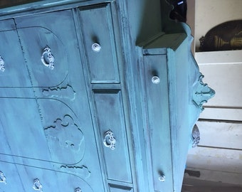 Antique dresser - Tall Teal/ Mint Green