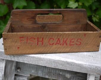 Vintage Wooden Crate - Wooden Trug