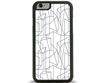 ASYMMETRIC iPhone Case, Samsung Galaxy Case. Protective Phone Cover