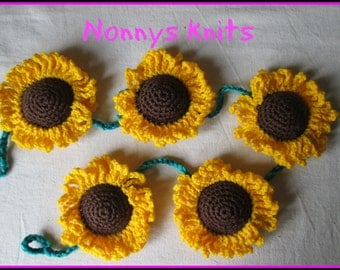 Sunflower wall hanging decoration