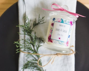 Candle Wedding Favours - Small Danube Jar