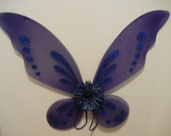 Blue Butterfly/Pixie wings for toddlers through adult! Use for Costumes, parties, holidays, photos and more!