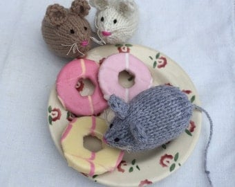 Monty Mouse Hand Knitted Decoration