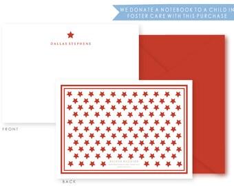 Personalized Everyday Stationery, Stars, Boxed Set of 10 Notes & Envelopes