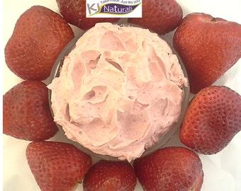 Strawberry Curls: Deep moisturizing conditioner with organic hibiscus flower, amla, liquid silk & shea butter.