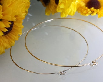14kt gold bangle bracelet, available in 14kt white gold, 14kt yellow gold, 14kt rose gold with tension hook and loop