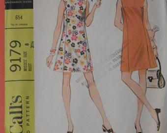 McCall's 9179 A-line dress pattern Size 8