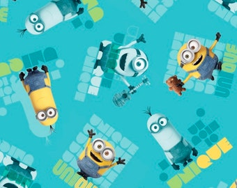 Minions Fabric Le Buddies Unique Toss Fabric Turquoise From Quilting Treasures