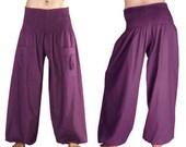 Harem pants harem pants pocket Aladin Bohemian hippie Palazzo Festival woman men pants trousers PURPLE purple