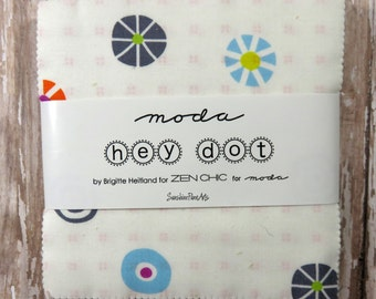 "Hey Dot - Zen Chic - Moda - 42 pieces - 5"" Squares - Charm Pack - 1600PP"