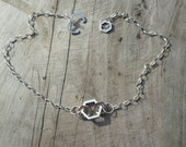 Triple Hexagon Necklace in Sterling Silver