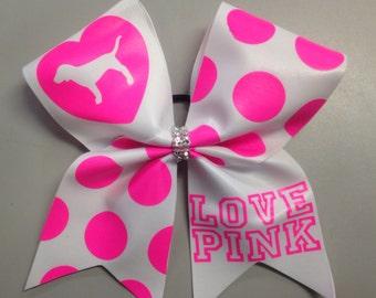 Love Pink texas cheer bow