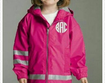 Toddler's Charles Rivers Monogrammed Rain Jacket/Monogrammed New England Rain Jacket/Toddler's Rain Coat/Charles Rivers/Personalized