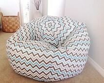 popular items for chevron bean bag on etsy. Black Bedroom Furniture Sets. Home Design Ideas
