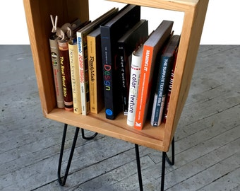 Pine Box End Table, Night Stand, Bookshelf