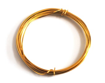Proops Gold Plated Wire, Copper Cored, 1.2mm x 3m. Various Quantities Available (X1123) Free UK Postage