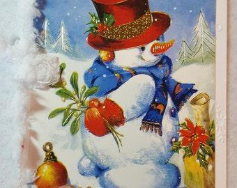 Snowman Handmade Christmas Card