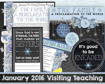 January 2016 LDS Visiting Teaching Message and Handouts, INSTANT DOWNLOAD, The Family: A Proclamation to the World