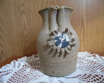 Vintage Art Pottery Vase, Mickey Mouse Flower Vase
