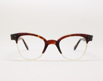 40s horn rimmed glasses, tortoise frame, vintage eyewear