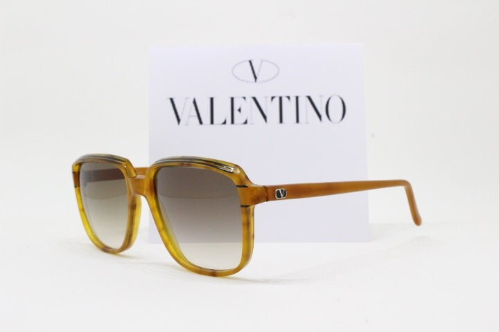 Frame Glasses Made In Italy : Valentino sunglasses made in Italy 80s amber colour frame