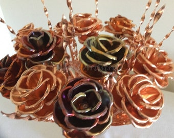 Wedding Table Centerpiece, elegant bouquet hand-crafted from pure copper what you can keep forever