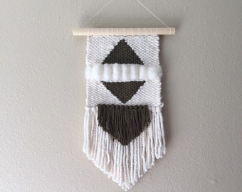 MINI Olive Green & White Weaving