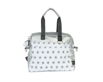 designer nappy bags 12ia  Star Diaper bag /Nappy Bag /Silver Star /Big diaper bag / Designer stroller  bag/Diaper Backpack nappy bag/ weekender/changing bag/mommy bag