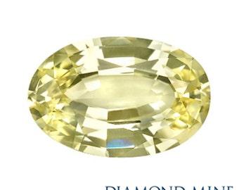 1.97 Carat Yellow Sapphire, Oval cut Sapphire, Loose Sapphire Gemstone, Yellow Gemstone, Non Heated Real Sapphire