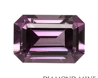 A Beautiful NaturalSapphire 1.12 Purple Emerald Cut Extra