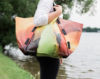 Tote Bag: Recycled Billboard Vinyl and One of a Kind!