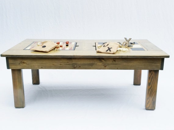 Farmhouse Coffee Table 4 Wood Games Coffee Table Rustic Home