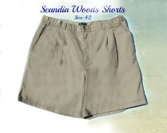 men's shorts,men's dress shorts, casual shorts, men's tan shorts, Size 42, #155