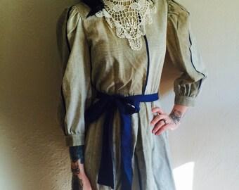VTG 1980s bib dress size S