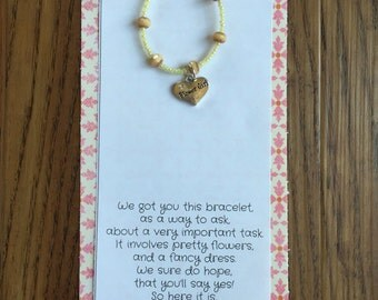Will you be our flower girl bracelet