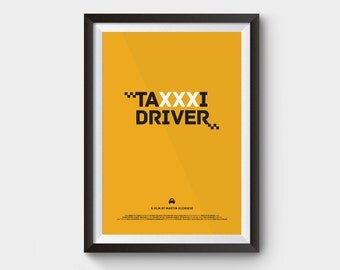 Taxi Driver - A3/A4 movie poster, film poster, minimal, geekery wall art, minimalist movie poster, movie poster, martin scorsese, poster