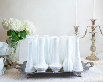 Milk Glass Vase Collection of 20 Assorted Milk Glass Wedding Table Wedding Decorations Wedding Centerpiece White Wedding Instant Collection