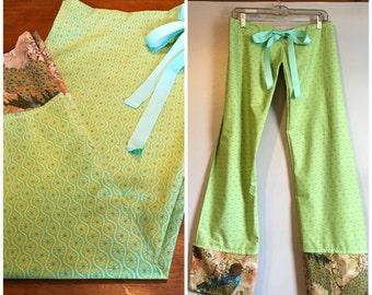 Lounge Pants - Women's Lime Colored Lounge Pants