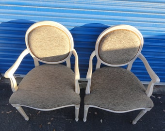 Sale Pair of French Round Back Chairs Like New