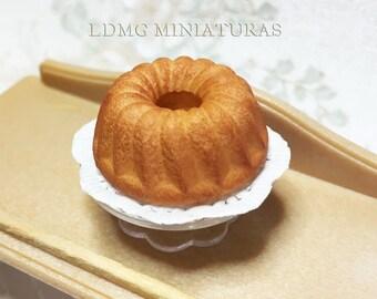 1:12 Scale.Bundt Cake. Dollhouse Miniature Food