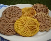 Pizzelle cookies gluten free wheat free dessert tray hostess gift tea party brunch coffee break snack decadent assorted flavors cardamom