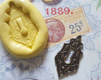 Keyhole Flexible Silicone Mold for polymer clay, resin, wax, fondant, candy, soap, etc.