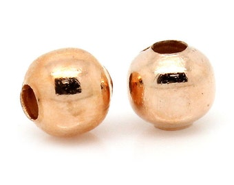 100 - 4mm Rose Gold Spacer Beads