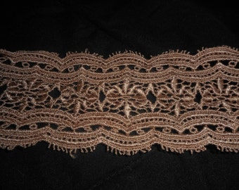 Four and One Half Yards of Vintage Mocha-Colored Trim