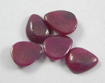 25% discount Gorgeous natural certified RED Ruby Gemstone size 9x11 mm 18.05 ct 5 pcs pear shape lot natural top quality ruby gemstone