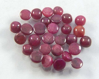 25% discount Gorgeous natural certified RED Ruby Gemstone size 6 mm 46.50 ct 29 pcs round shape lot natural top quality ruby gemstone