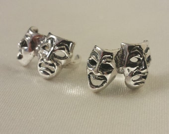 Sterling Silver Comedy face ear cuffs