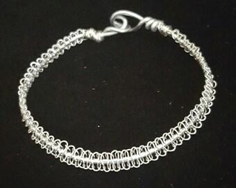 Wire Macrame Bracelet - Silver Sensation Wire Work Bracelet - Silver Jewelry - Gift For Her - Handmade Jewelry - One Of A Kind - Macrame